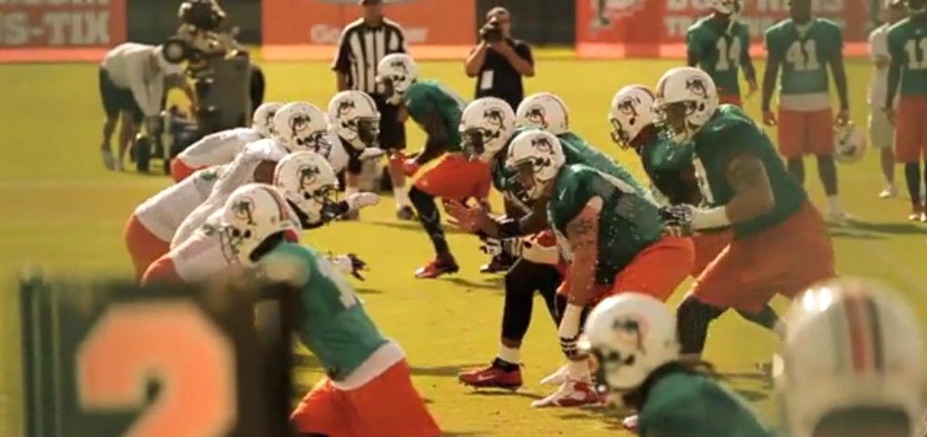 """Shot from """"Dolphins Training Camp"""" by Florida Film House"""