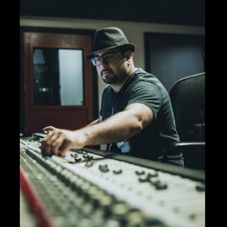 Audio engineer, music producer, composer Rohan Solomon at Engine Room Audio (NY, NY)